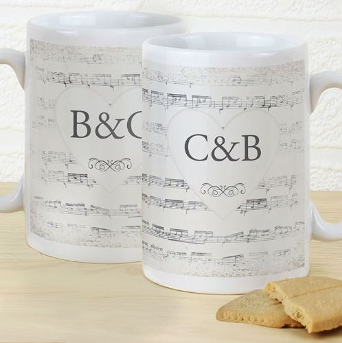 Personalised Vintage Manuscript Mug Set